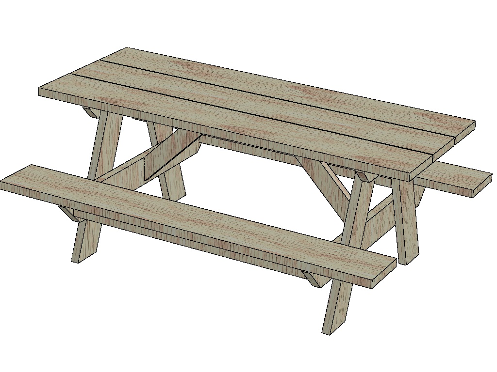 Simple wood picnic table plans vintage